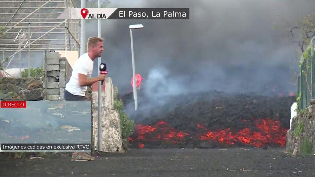 Alejandro Rodríguez en la lava