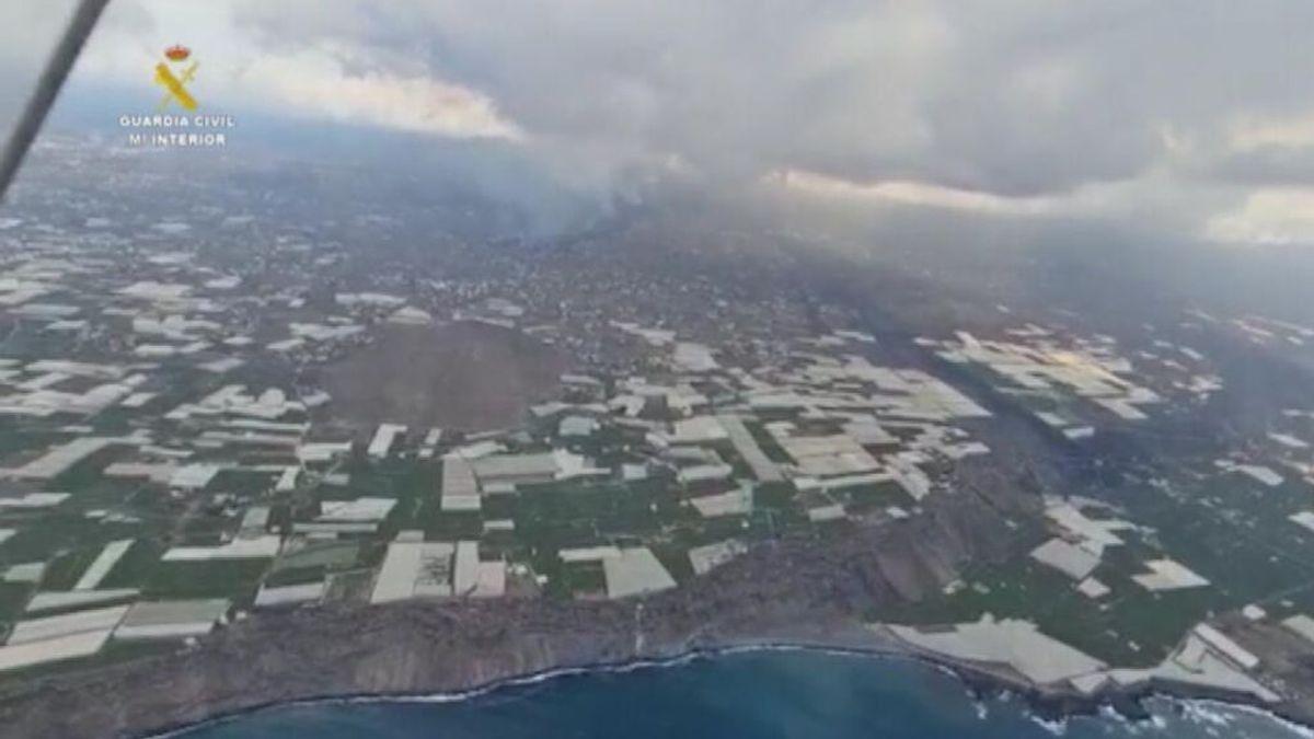 Imagen aérea de la isla de La Palma