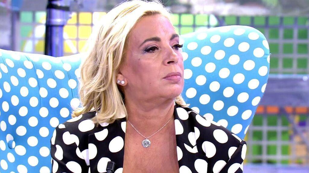 """Carmen Borrego toma una decisión con respecto a Alejandra Rubio y Terelu Campos: """"He llorado y no quiero seguir haciéndolo"""""""