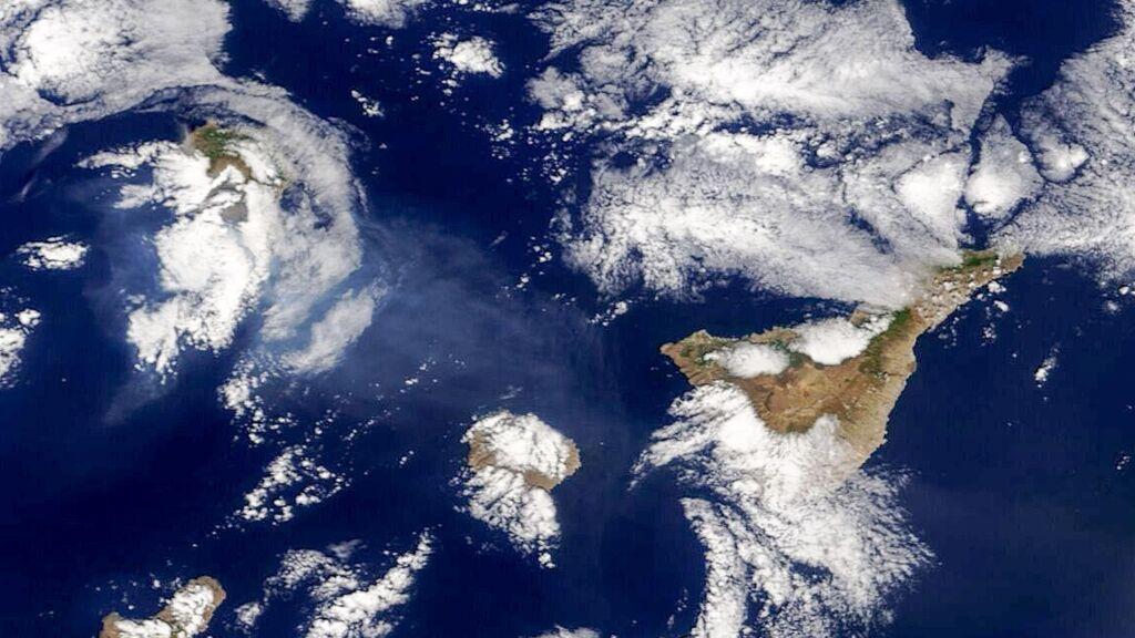 La nube de cenizas del volcán de La Palma, no afecta al espacio aéreo