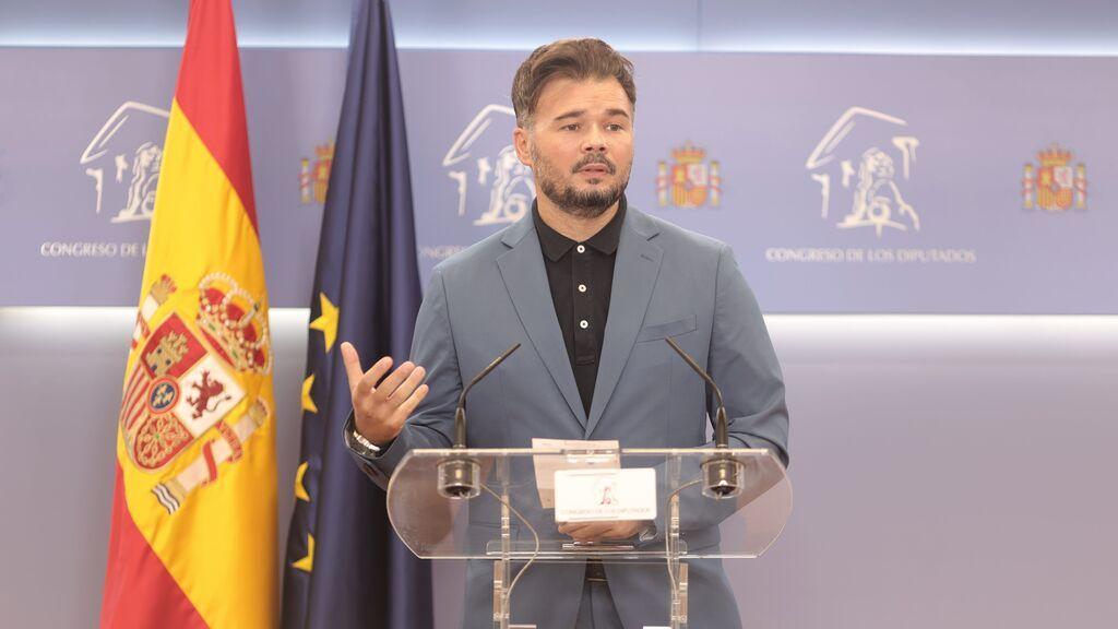 """ERC y Bildu avisan al Gobierno de que no de por seguro su apoyo a los Presupuestos: """"El voto de ERC se suda"""""""