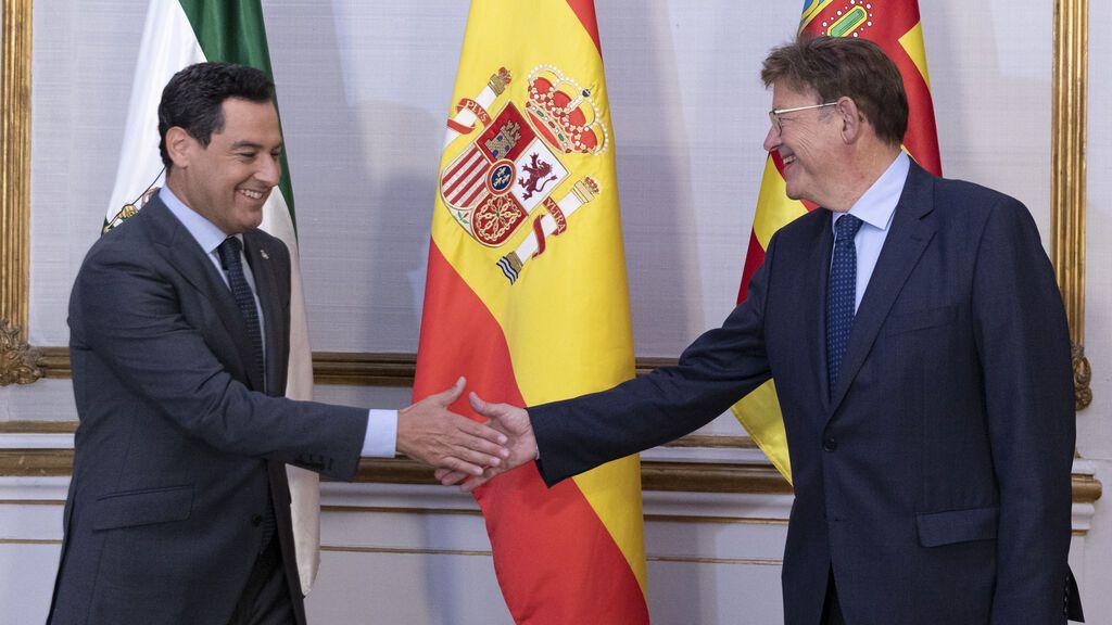 """Andalucía y Comunidad Valenciana piden un """"fondo compensatorio"""" mientras se reforma el sistema de financiación"""