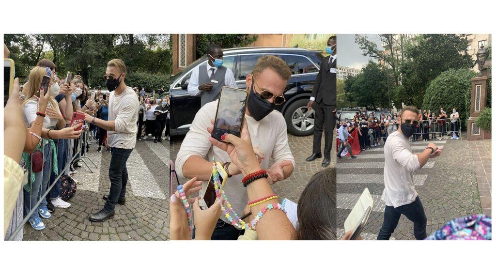 Kerem Bürsin en Italia con fans