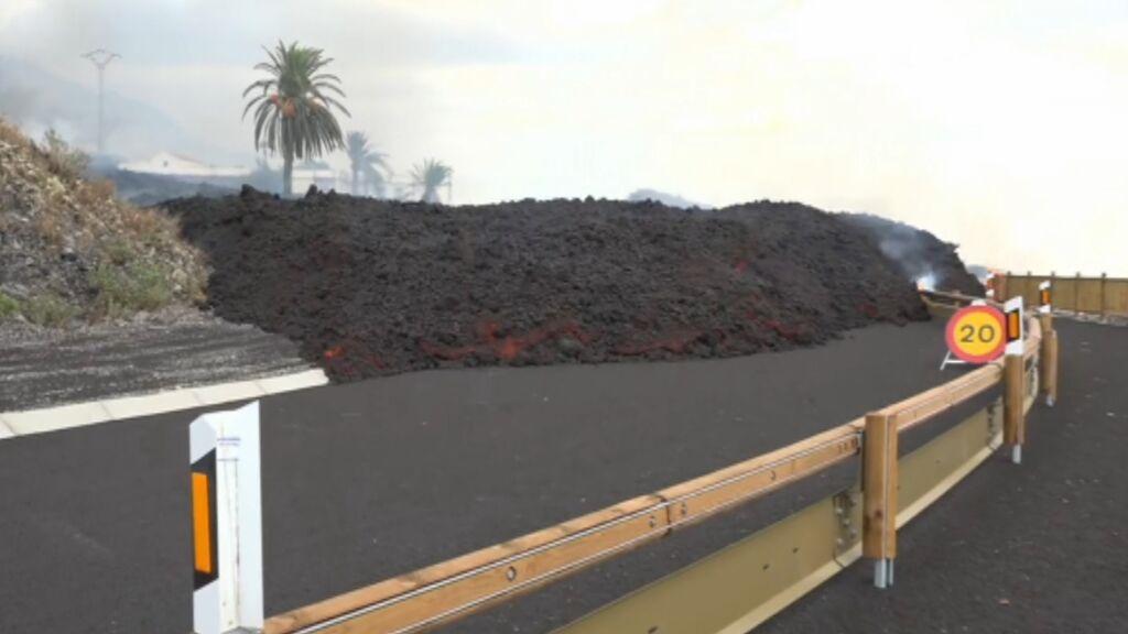 Así son las coladas de lava del volcán de La Palma