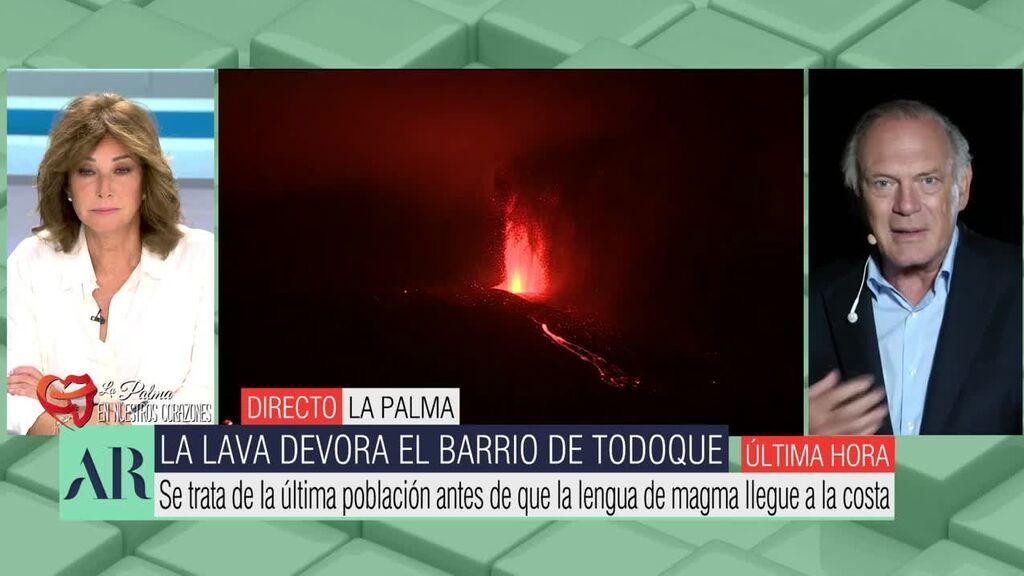 Ana Rosa y Pedro Piqueras, cara a cara tras los rugidos del volcán de La Palma