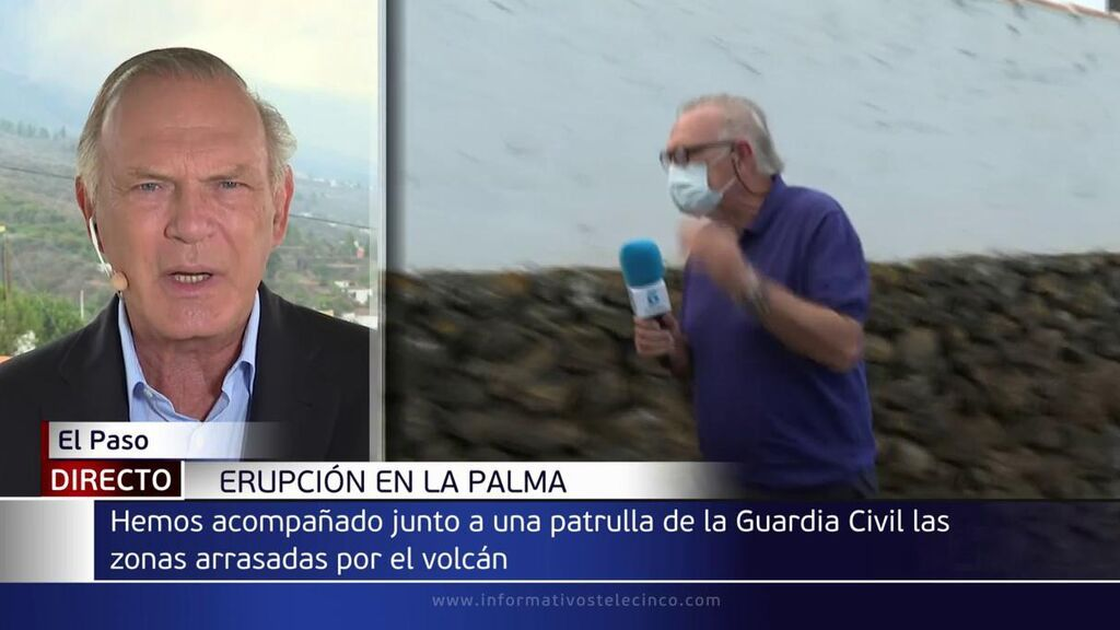 Pedro Piqueras con la alcachofa de reportero en la Palma