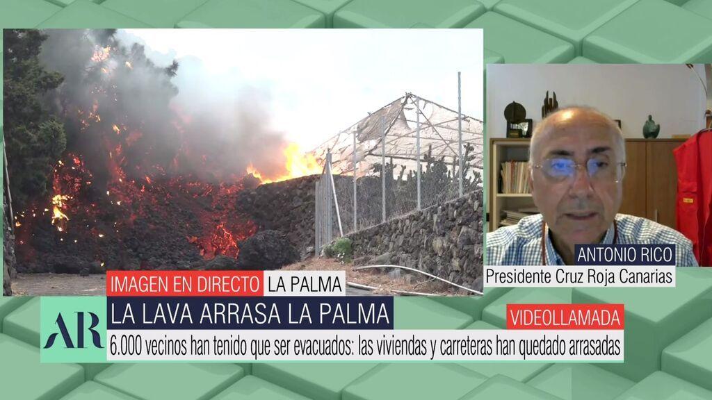"""Cruz Roja, tras ser arrasadas más de 150 casas por la lava: """"Las familias están en una situación de incertidumbre, apatía y tristeza"""""""