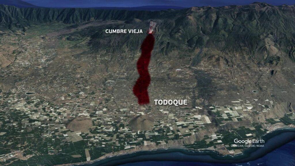 Mapa de peligrosidad de La Palma: así avanzará la lava en su camino hacia el mar
