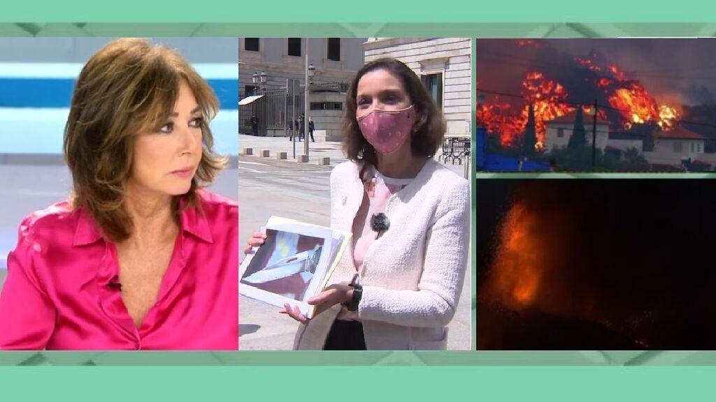 """Ana Rosa critica a Reyes Maroto tras sus palabras sobre el volcán """"turístico"""" de La Palma"""