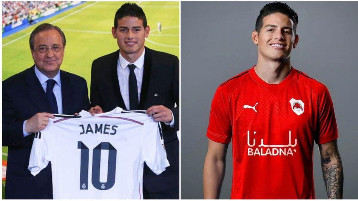 La caída en picado de James Rodríguez: de costarle al Real Madrid 75 millones, a irse a Catar con 30 años
