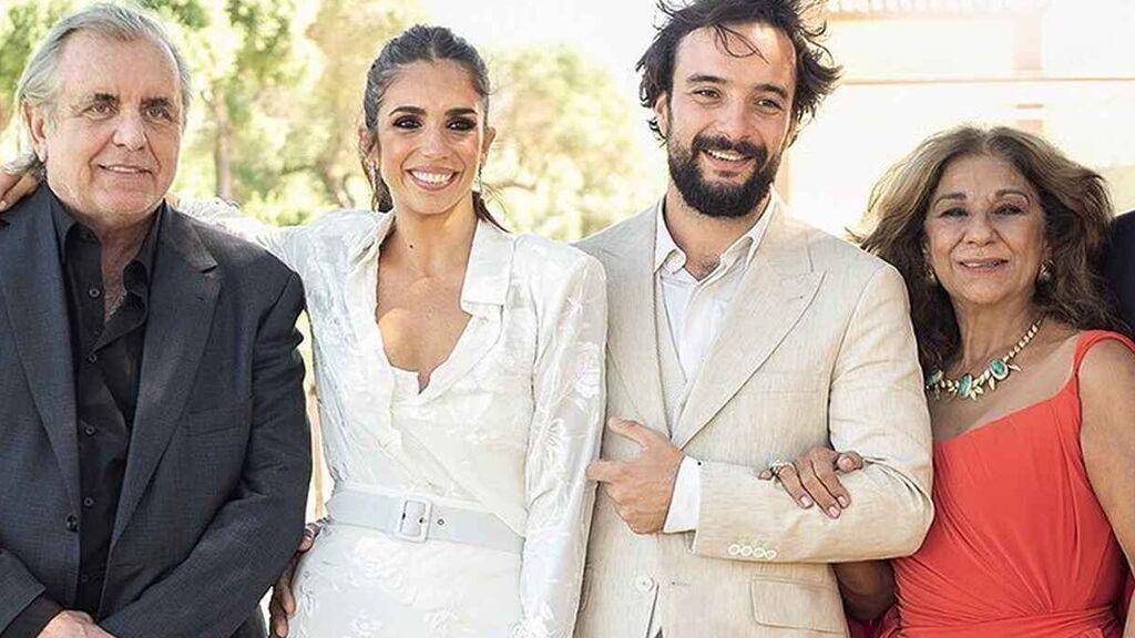 La boda de Elena Furiase: dos vestidos y joyas de su abuela