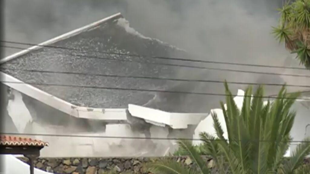 Cientos de casas destruidas por el paso de la lava del volcán de La Palma