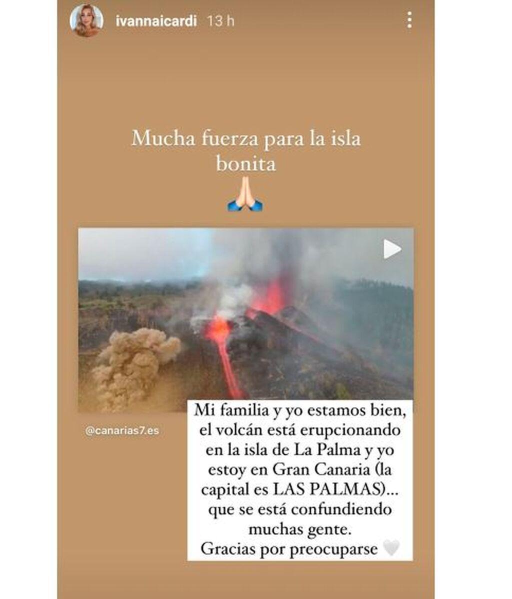 La aclaración de Ivana Icardi en la tragedia del volcán