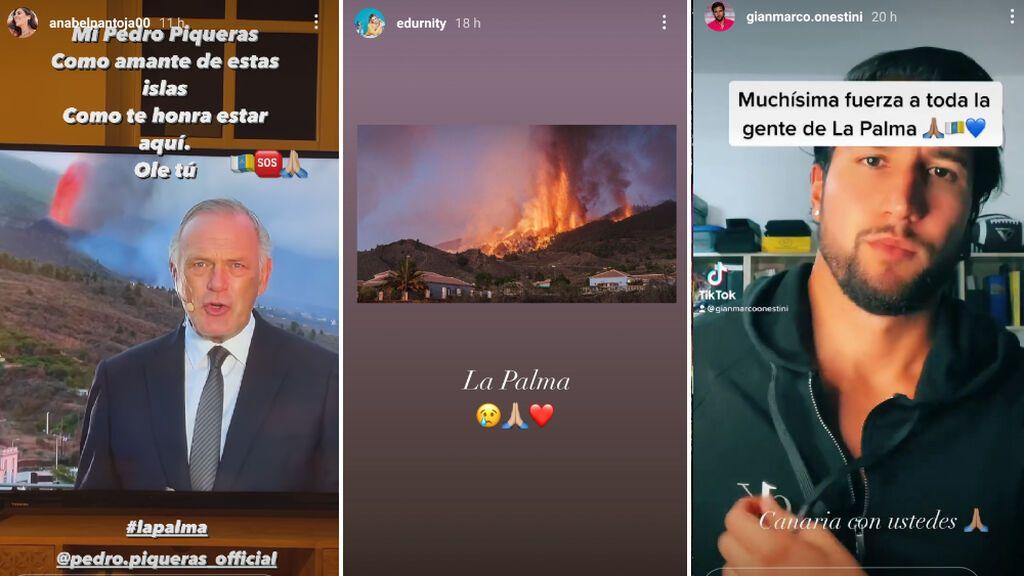 Distintas muestras de apoyo para los afectados por el volcán