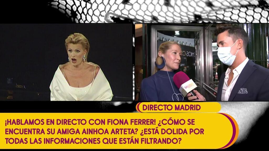 """Fiona Ferrer aclara qué pasó en la preboda de Ainhoa Arteta y Matías Urrea: """"Fue la tensión del momento"""""""