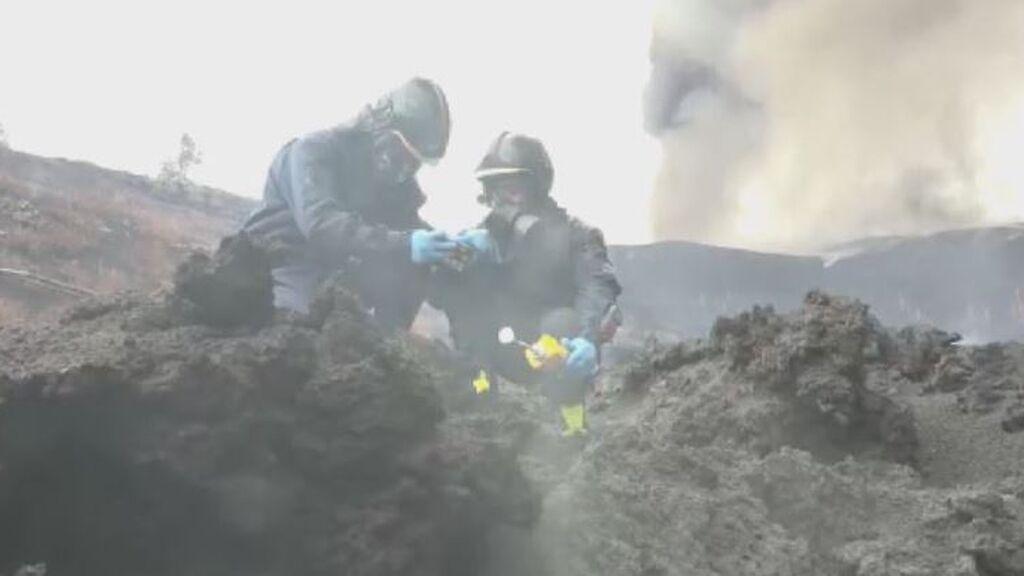 Medición de gases en La Palma