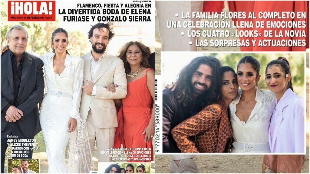 Lola Orellana, la hija de Rosario Flores, en la boda de Elena Furiase