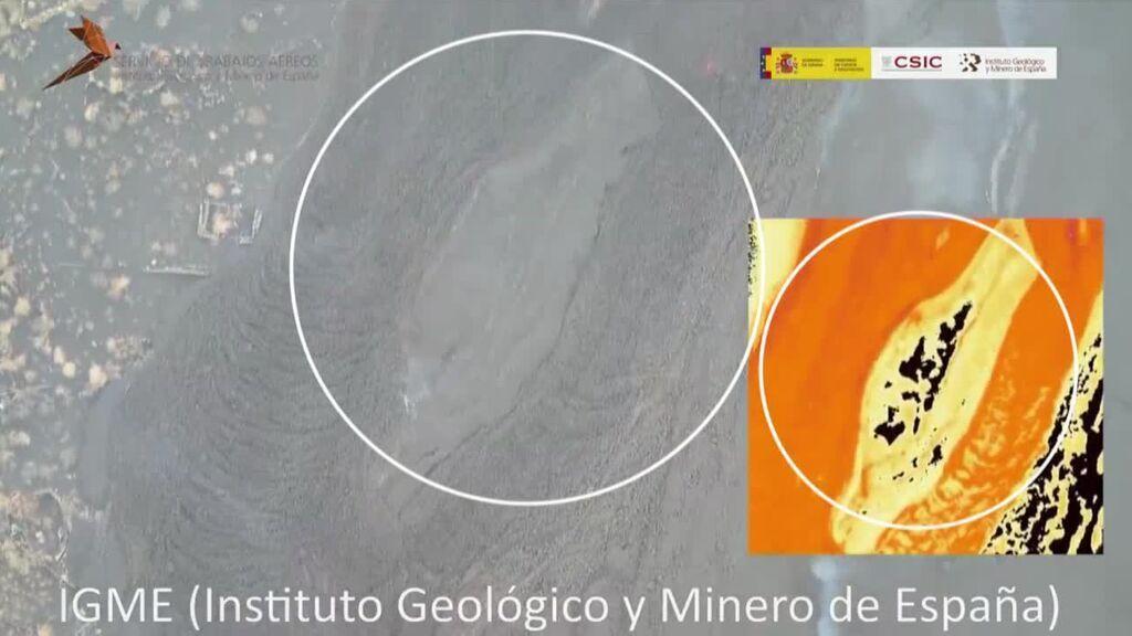 Drones y cámaras térmicas para conocer al volcán de La Palma