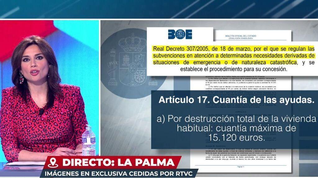 Las irrisorias indemnizaciones que recibirían los afectados por el volcán de la Palma