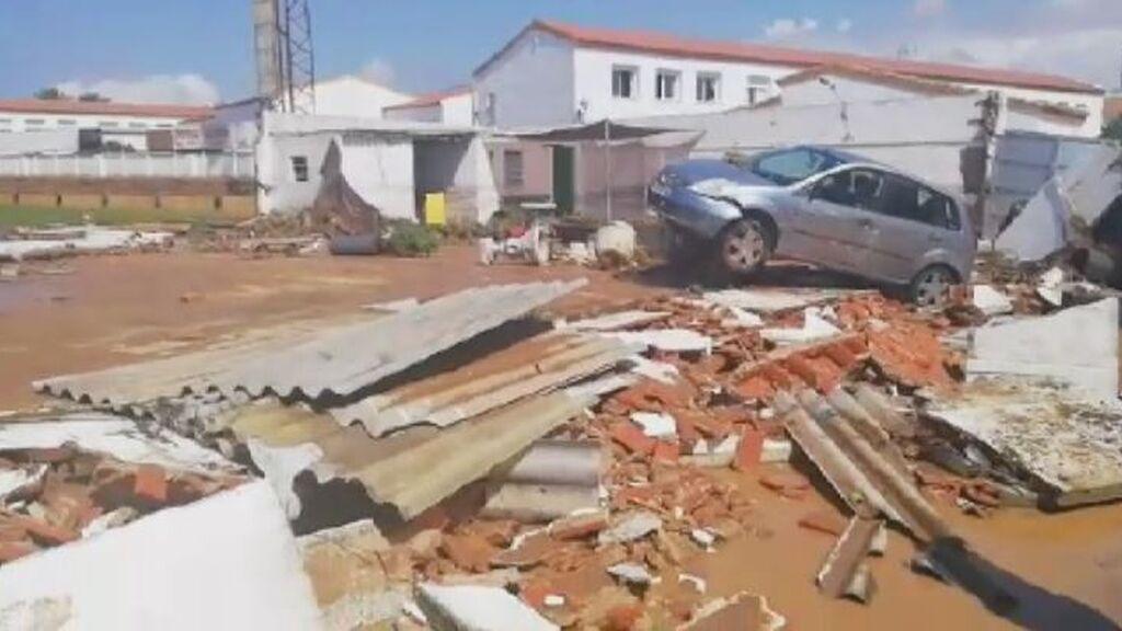 Las inundaciones provocan graves destrozos en varios pueblos de la costa de Huelva