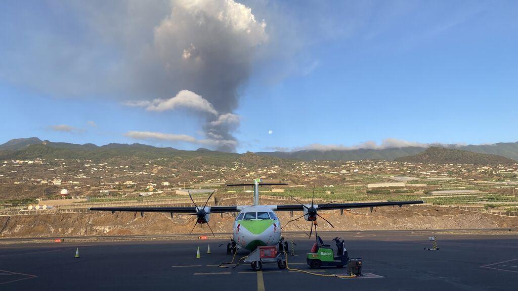 Nivel rojo del código de aviación en Canarias, que no afecta al tráfico aéreo