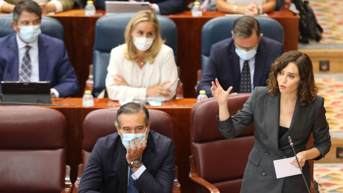 """Ayuso se muerde la lengua para no decir 'culo': """"Si fuera por el PSOE tendríamos que subir impuestos, para no dejar con el... a su compañeros"""""""