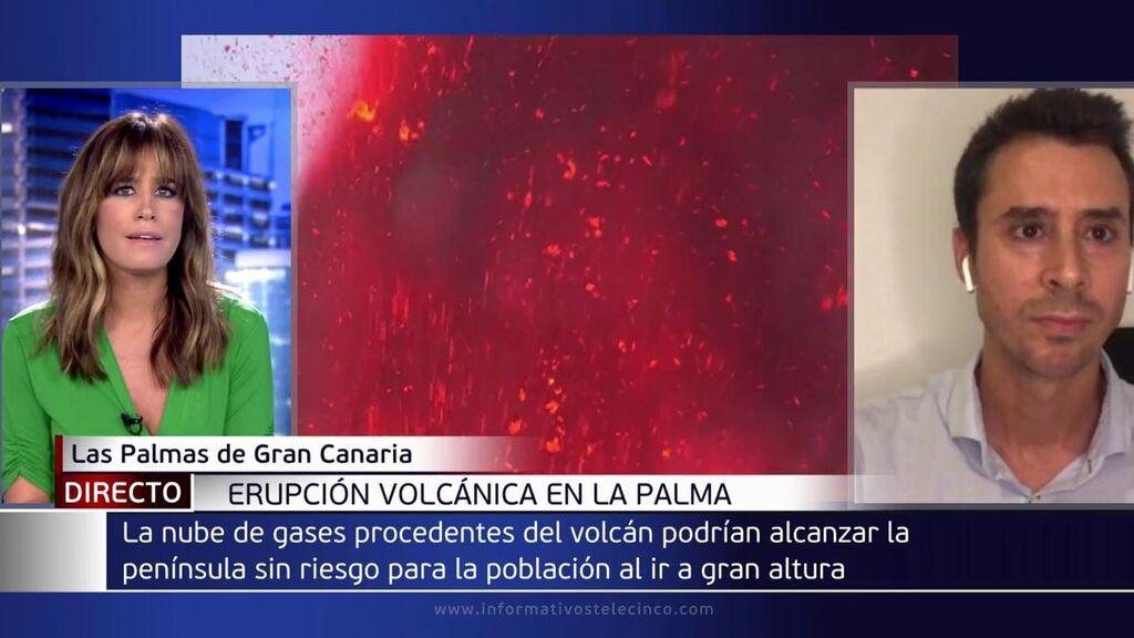 """David Suárez, delegado de la AEMET en Canarias: """"En este momento es descartable una lluvia ácida"""""""