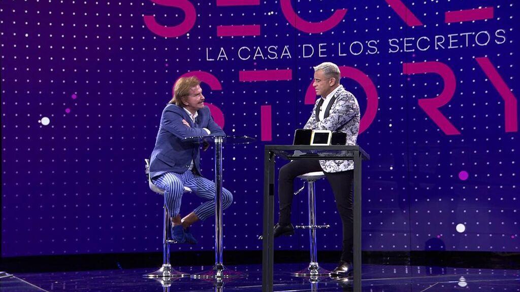 Bigote Arrocet y Jorge Javier Vázquez, en el plató de 'Secret Story'