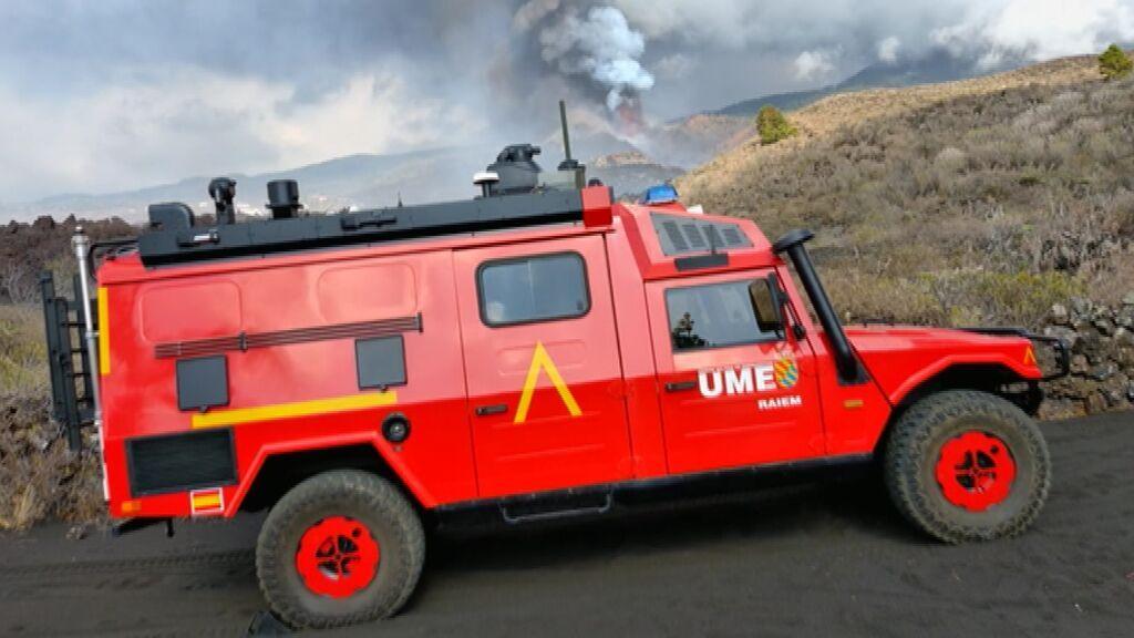 Velire, el vehículo de la UME para medir la calidad del aire en La Palma tras la erupción del volcán