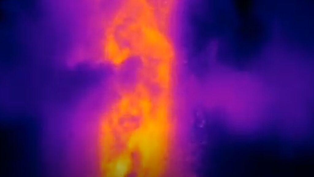 Las coladas vistas con rayos infrarrojos