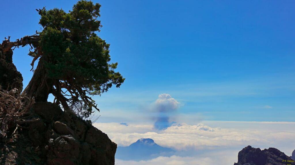 La nube del volcán de La Palma