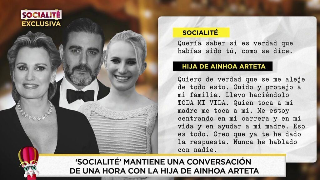 Entrevista a la hija de Ainhoa Arteta