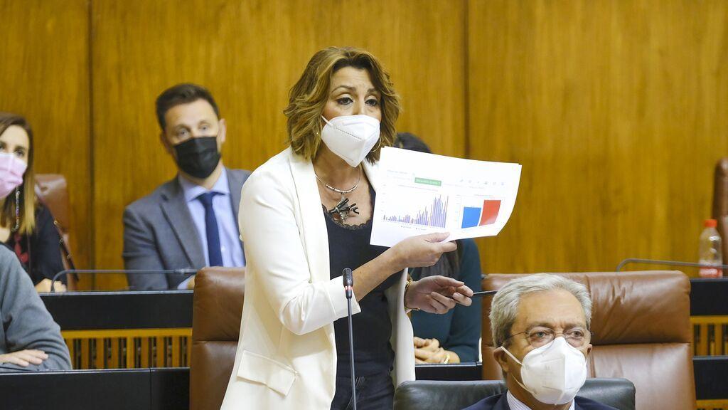 Susana Díaz renuncia al acta de parlamentaria andaluza tras la reunión mantenida con Espadas