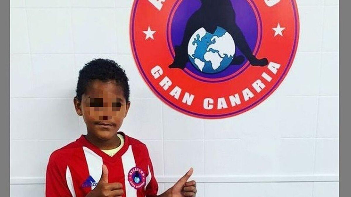 El fútbol canario, de luto por la muerte de su canterano Dilan, el menor de 8 años atropellado por una moto