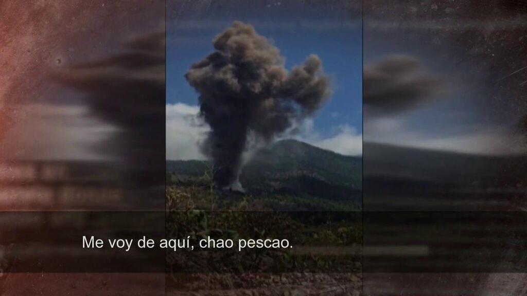 El primer testigo de la erupción del volcán