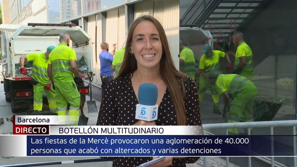Macrobotellón de 40.000 jóvenes en Barcelona