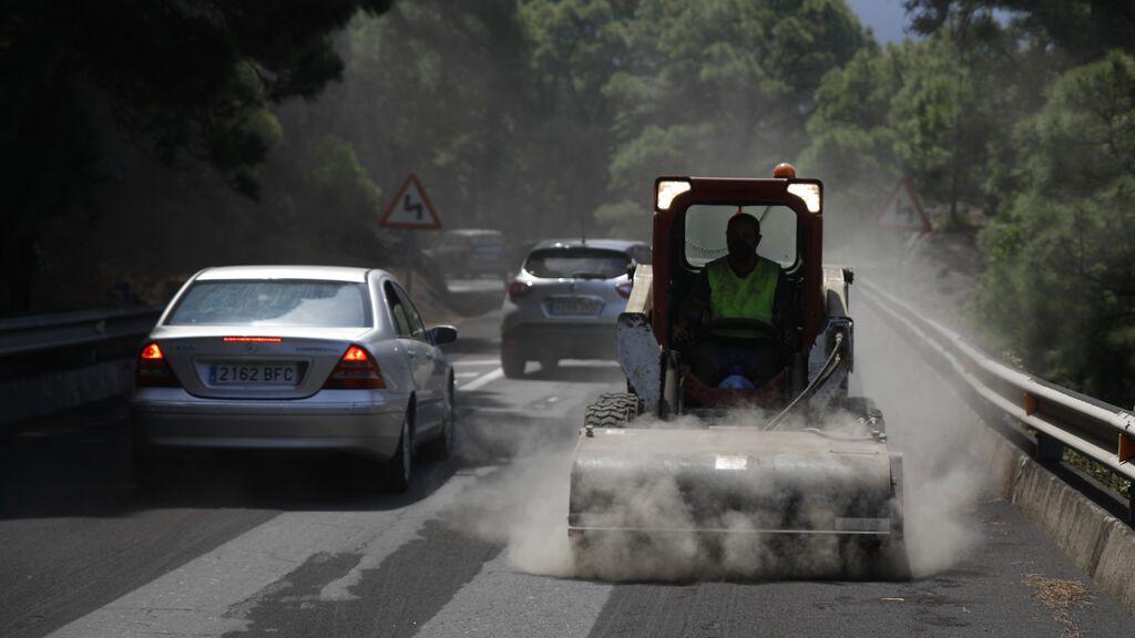 Cómo conducir en las zonas afectadas por el volcán de La Palma
