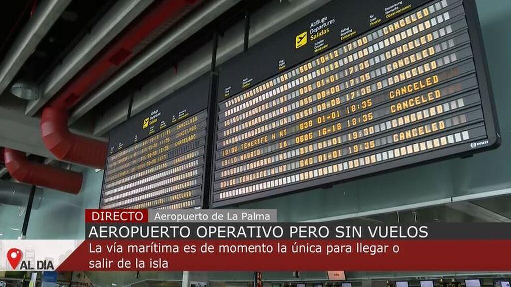 El aeropuerto de La Palma recupera la operatividad