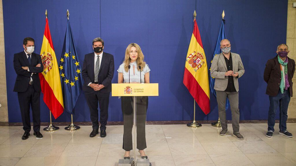Gobierno, sindicatos y CEOE acuerdan prorrogar los ERTE hasta finales de febrero