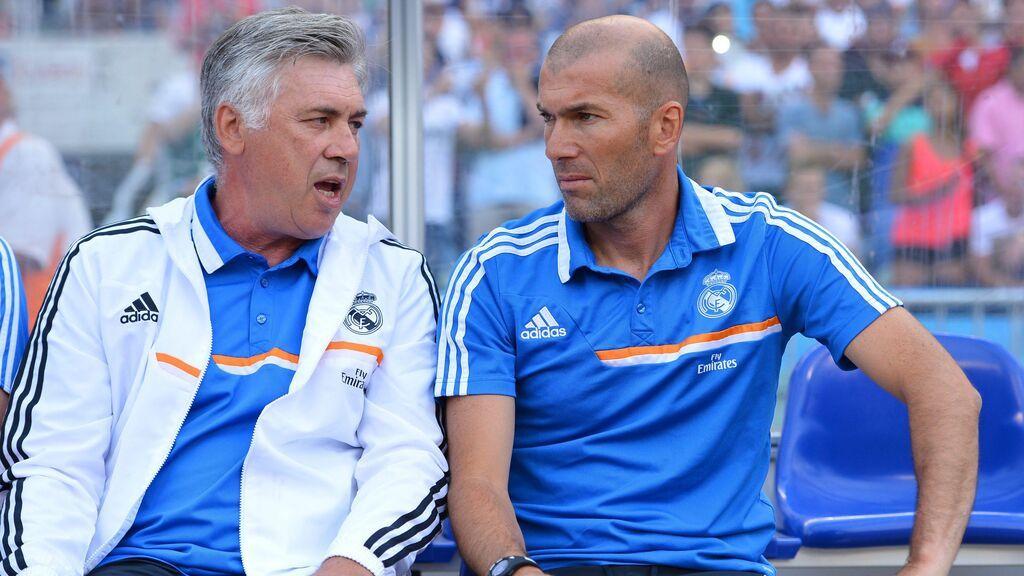 """Ancelotti echa flores a Zidane: """"Ojalá yo pueda hacer lo mismo y ganar la Champions una vez más"""""""""""