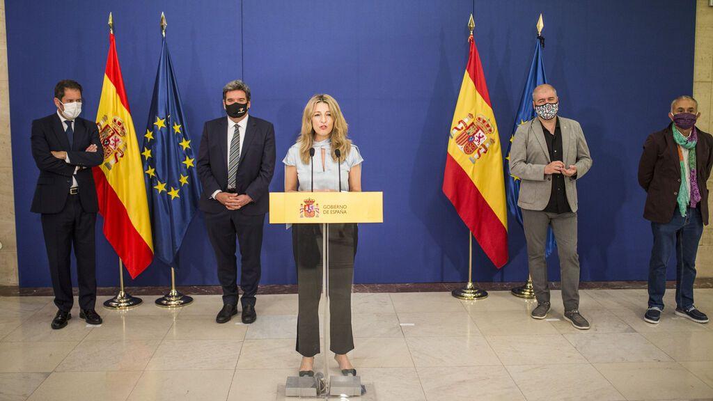 Gobierno y agentes sociales llegan a un principio de acuerdo para extender los ERTE