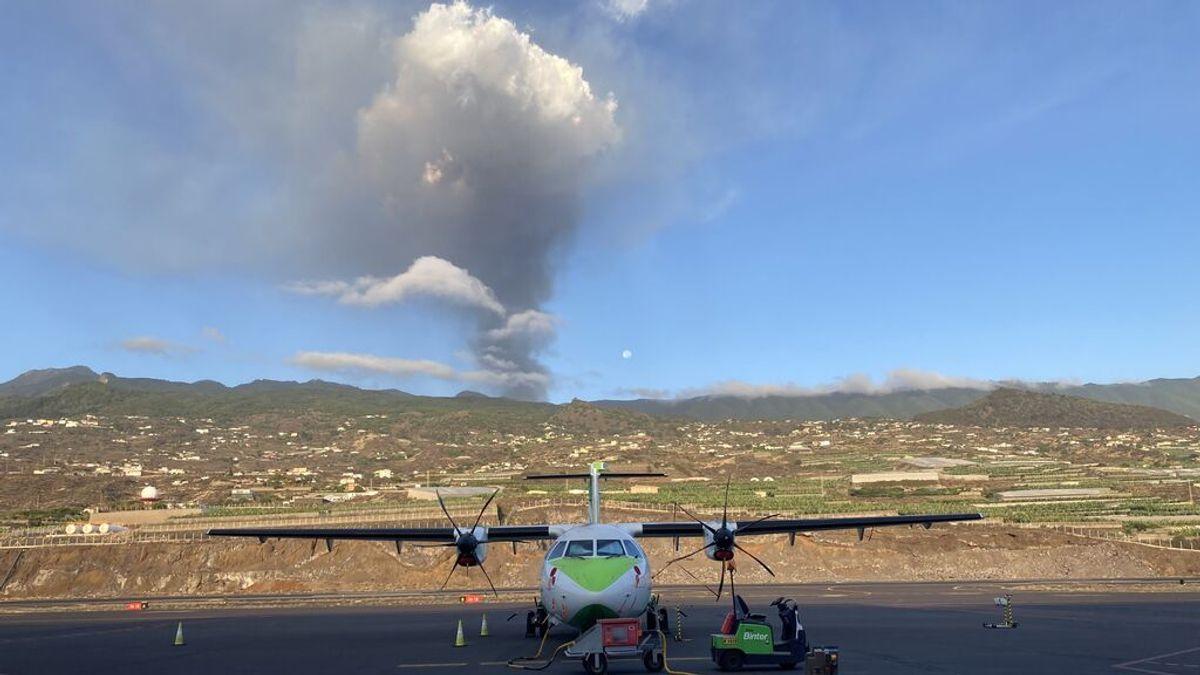 """Binter vuelve a cancelar los vuelos a la isla de La Palma por """"seguridad"""""""