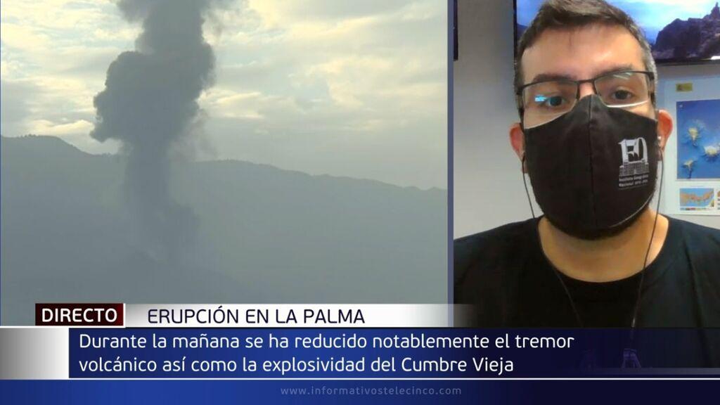 """El sismólogo Itaizha Domínguez resuelve las dudas sobre el parón del volcán: """"Se trata de algo habitual"""""""
