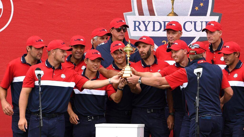 Estados Unidos celebra la Ryder Cup.