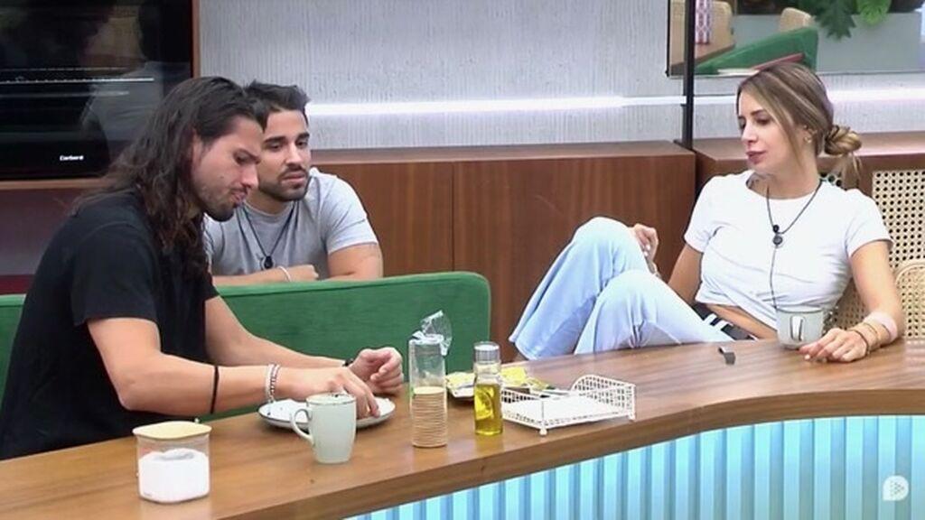 El trio de Miguel, Cris y Luca