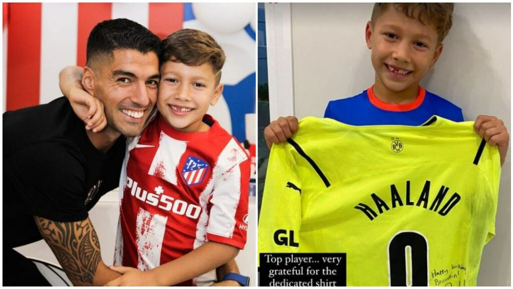 """Haaland regala una camiseta firmada al hijo de Luis Suárez por su cumpleaños: """"Un jugador y persona top"""""""