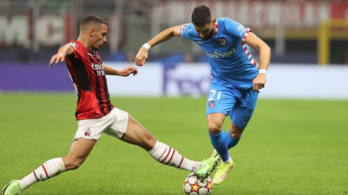 El Atleti consigue una victoria agónica ante el Milan (1-2)