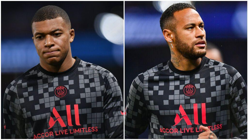 Mbappé y Neymar, distantes en el PSG.