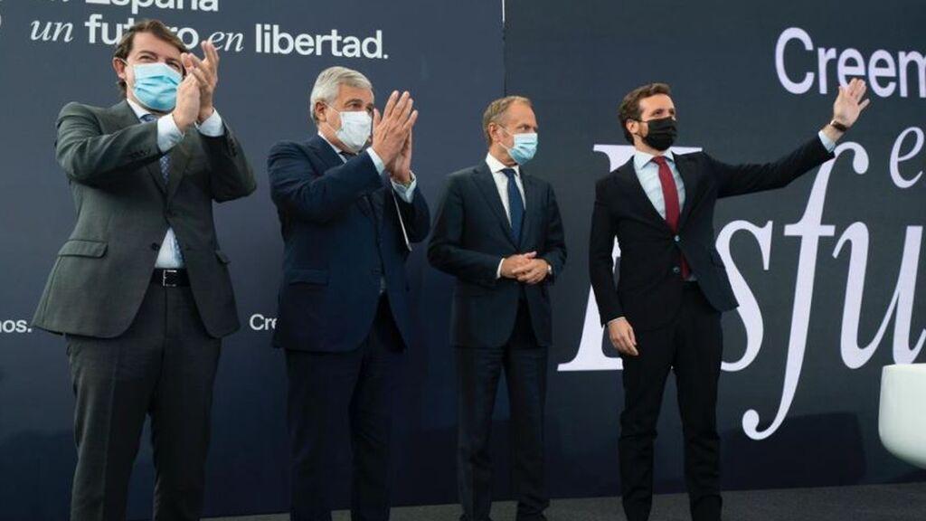 Casado responde desde Valladolid a Rajoy y Feijóo