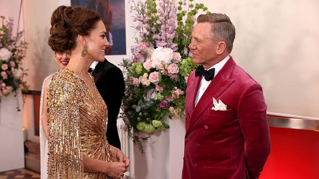 Kate Middleton deslumbra en el estreno de 'Sin tiempo para morir', la última de James Bond